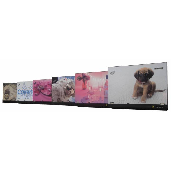 Custom Vinyl Laptop Skin Cover.  Perfect for Business Branding, Family Photo's or stock pictures. Professionally Fitted